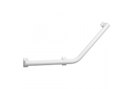 ARSIS 135° angled grab bar, 400 x 400 mm, White Epoxy-coated Aluminium, 3 fixing points