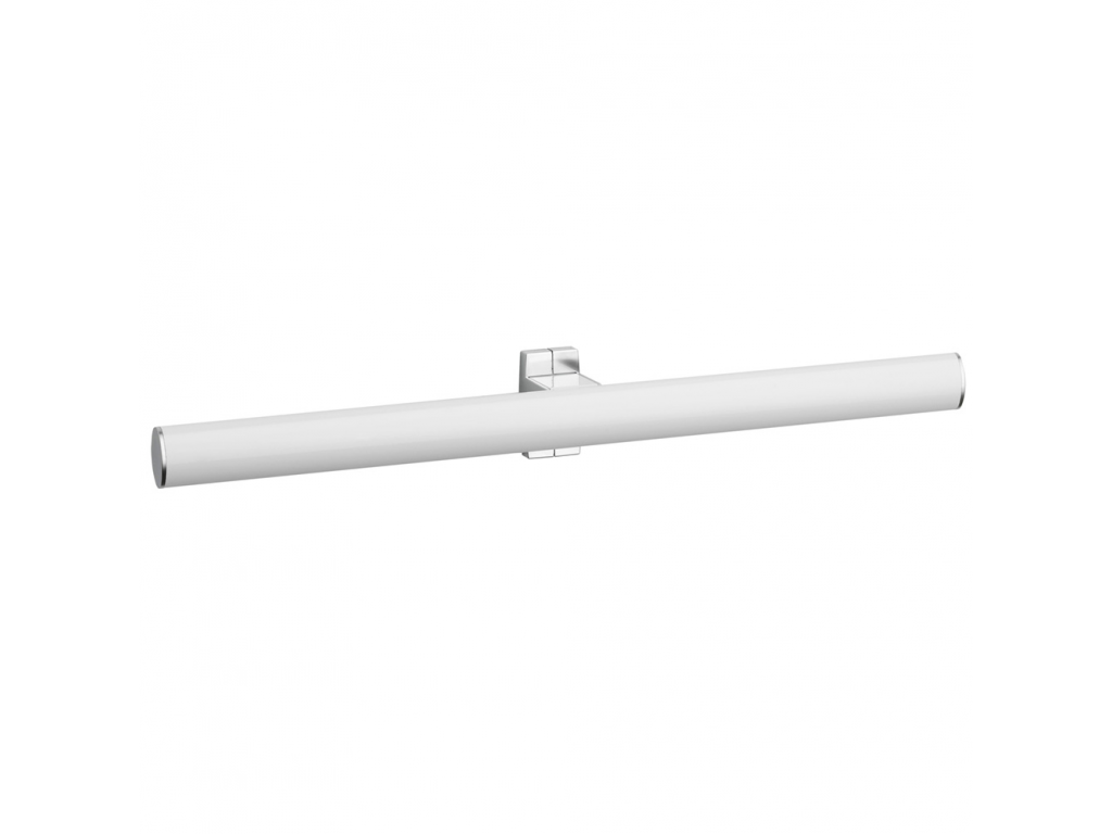 Double towel rail, 538 x 69 x 67,5 mm, White epoxy-coated Aluminium