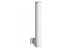 Reserverollenhouder, Wit Epoxy Aluminium, Mat verchroomd bevestigingsrozetten, tube 38 x 25 mm