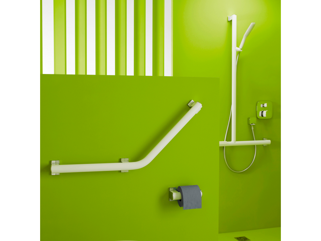 barre 135 arsis 400 x 400 mm alu blanc chrom mat 3 pf. Black Bedroom Furniture Sets. Home Design Ideas