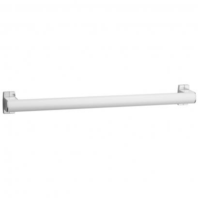 Barre droite Arsis 500 mm, Alu Epoxy Blanc & Chromé mat