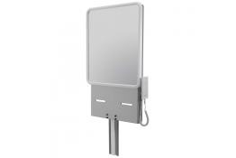 Electric adjustable washbasin support with mirror