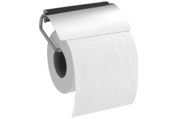 Toilet roll holder, 133 x 76 mm, Bright polished Stainless steel, tube Ø 5 mm