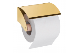Toiletroldispenser, 128 x 70 mm, Messing, Glanzend gepolijst