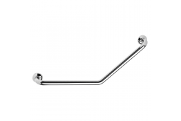 135° angled grab bar, 400 x 400 mm, Chrome and nickel-plated Brass, tube Ø 32 mm