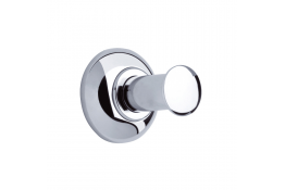 Single robe hook, 73 mm, Chrome and nickel-plated Brass, tube Ø 25 mm