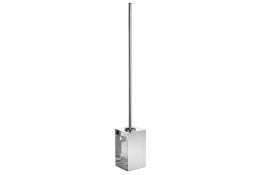 Toilet brush & holder, 735 x 100 x 100 mm, Bright polished Stainless steel