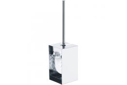 Inox toiletborstelhouder, 390 x 100 x 100 mm, Roestvrij staal, Glanzend gepolijst