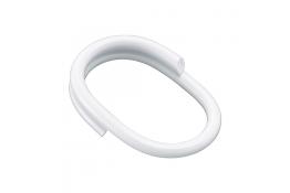 Anelli tende per doccia, 52 x 36 mm, Plastica rinforzata , Tubo Ø 4,87 mm, Bianco