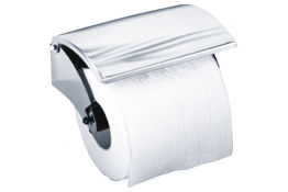 Toilet roll holder, 127 x 82 x 56 mm, Bright polished Stainless steel