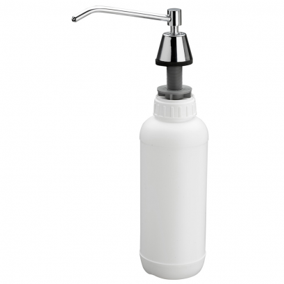 Fitted liquid soap dispenser, , Chrome-plated Brass
