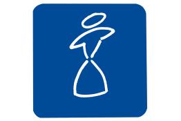 Figurine, 90 x 90 mm, PVC , Bianco e Blu