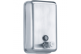 850 ml Liquid soap dispenser, 182 x 105 x 115 mm, Brushed Stainless steel