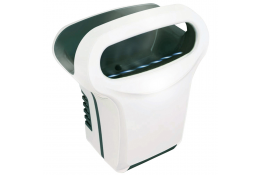 Asciugamano Exp'air, aria calda, 430 x 343 x 232 mm, Alluminio Epossidico, Bianco e Nero