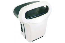 Exp'air pulsed air hand dryer, 430 x 343 x 232 mm. , White & Black Epoxy-coated Aluminium