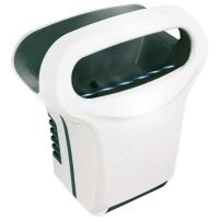 Handdroger Exp'air, met heteluchtstroom, 430 x 343 x 232 mm, Aluminium, Epoxy, Wit en zwart