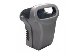 Exp'air pulsed air hand dryer, 430 x 343 x 232 mm. , Grey & Black Epoxy-coated Aluminium