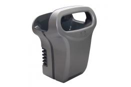 Handdroger Exp'air, met heteluchtstroom, 430 x 343 x 232 mm, Aluminium, Epoxy, Grijs en zwart