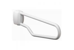 Hinged bar, 750 mm, White Epoxy-coated Steel, tube Ø 30 mm