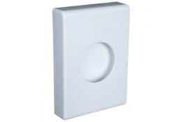 Distributeur sachets hygiène, 137 x 100 x 27 mm, ABS Blanc