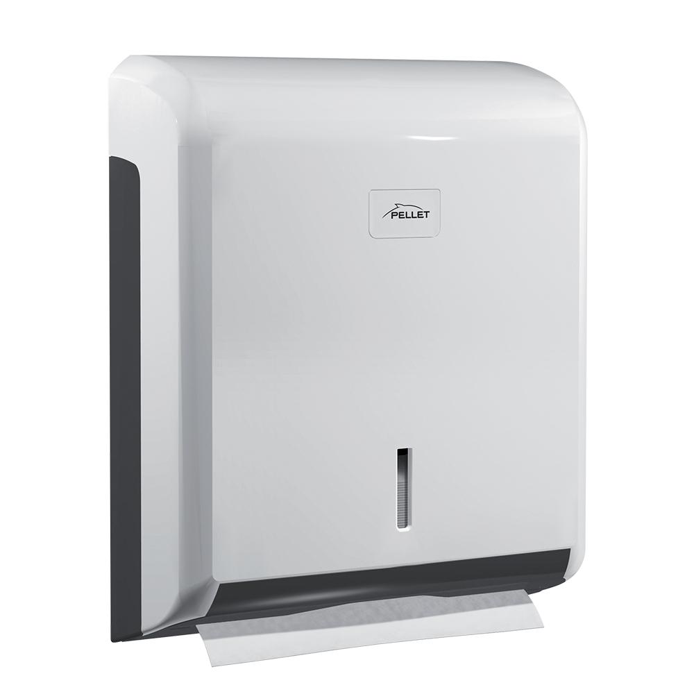 Hand paper towel dispenser, 340 x 265 x 110 mm, White & Grey ABS