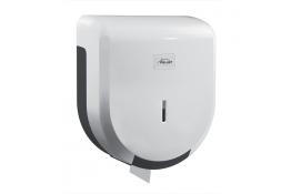 Mini jumbo toilet roll dispenser, 275 x 245 x 120 mm, White & Grey ABS