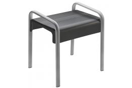 Sgabello doccia, 461 x 526 x 580 mm, 38 x 25 mm, ABS e Alluminio Cromato, Grigio antracite e cromato