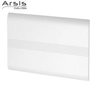 Enkel rugleuning, witte ABS