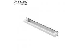 Barra de apoyo amovible 443 mm, blanco y anodizado