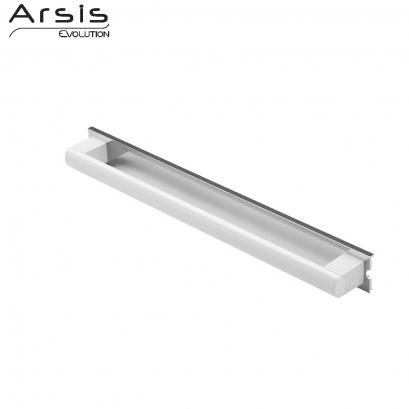 Barre d'appui amovible 552 mm, blanc & anodisé