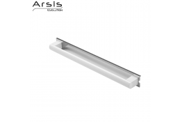 Removable grab bar 552 mm, anodised white