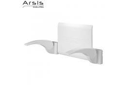 Backrest + 2 armrests - white
