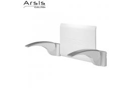 Backrest - white + 2 armrests - white & grey