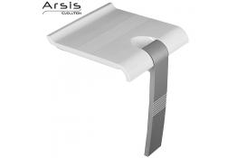 Sedile doccia ribaltabile ARSIS, 442 x 450 x 500 mm, Tubo Ø 25 mm, ABS e Alluminio Epossidico, Bianco e Grigio