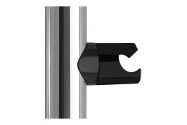 ARSIS® slider bracket for shower handset, 38 x 25 mm, White Synthetic resin