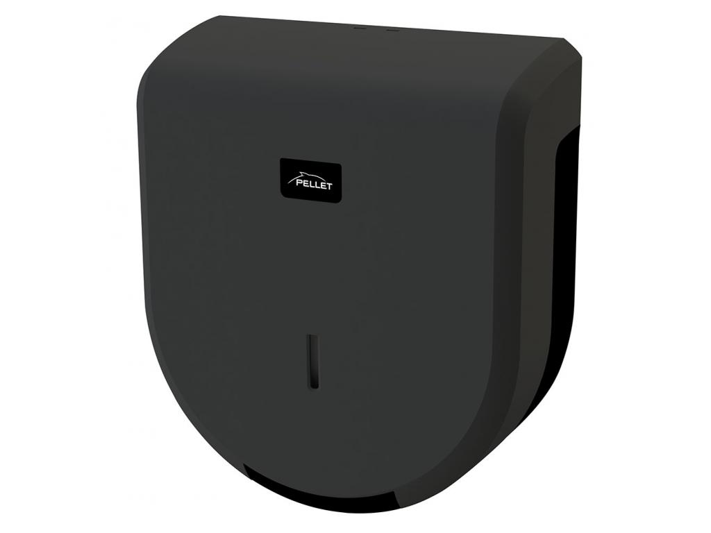 distributeur papier wc mini abs noir mat et gris. Black Bedroom Furniture Sets. Home Design Ideas