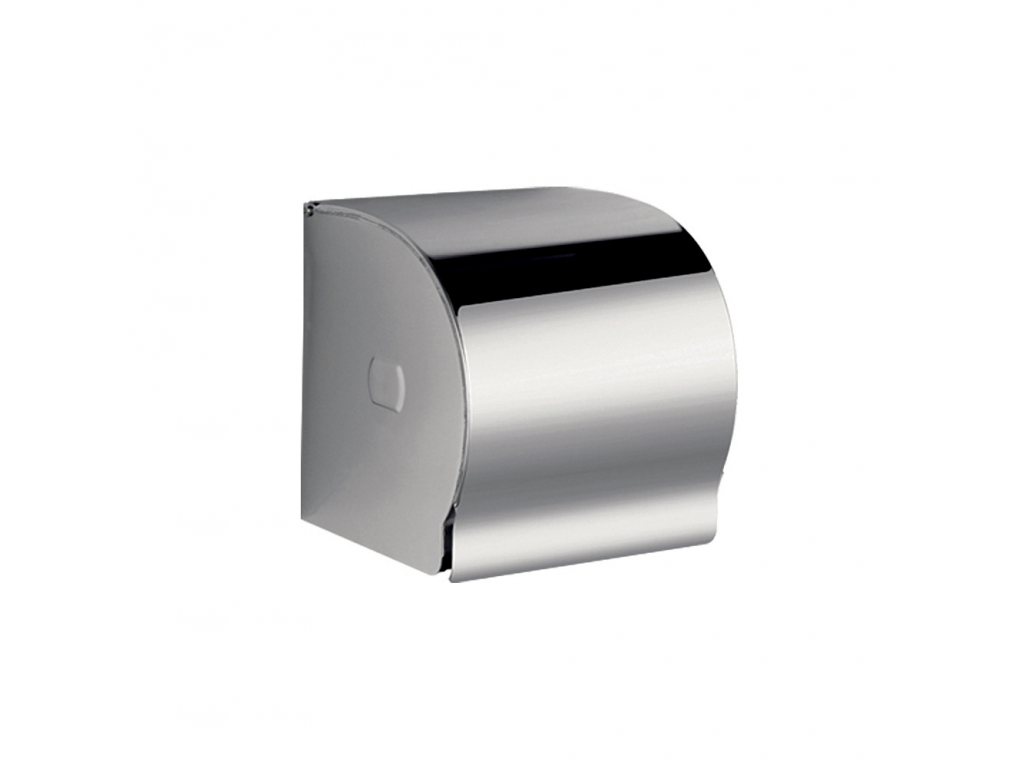 Dérouleur Papier Wc Metal classique - toilet roll holder, stainless steel, with cover