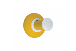 Porte-Peignoir aluminium époxy jaune