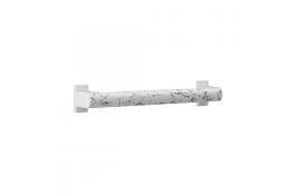 Barre droite Arsis Fantasy 400 mm Marbre et cache-fixations blancs, Aluminium