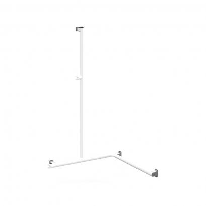 barre de douche angle 2 murs arsis aluminium epoxy blanc. Black Bedroom Furniture Sets. Home Design Ideas