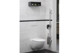 Barre d'appui et de maintien multifonctions pour WC
