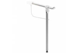 Adjustable support prop for hinged bar, 50 x 655 mm, Brushed Stainless steel, tube Ø 30 mm