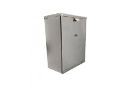 Wandafvalbak 7,2 liter, 285 x 215 x 140 mm, Roestvrij staal, Glanzend gepolijst