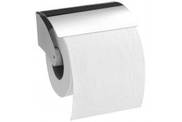 Toilet roll holder, 127 x 50 mm, Chrome and nickel-plated Brass