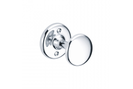 Single robe hook, 59 x 70 mm, Chrome and nickel-plated Brass, Ø 59 mm