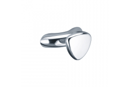 Single robe hook, 90 x 55 mm, Chrome and nickel-plated Brass, Ø 25 mm