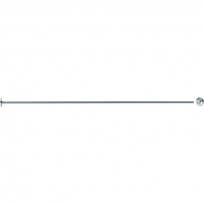 Rechte gordijnstang, 1500 mm, Messing, Vernikkeld Verchroomd, Ø 16 mm