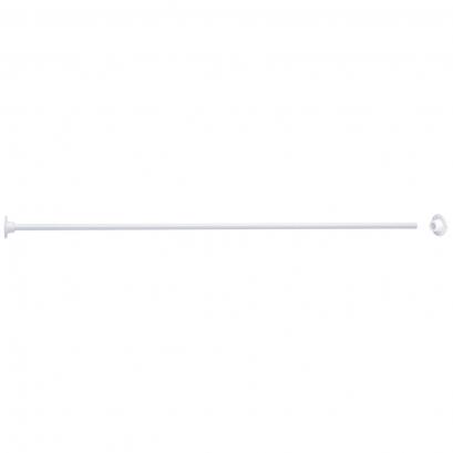 ECO - Porte-rideaux droit 1000 mm, Acier Epoxy Blanc