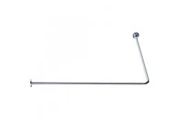 Tubo reggitenda ad angolo 90°, 800 x 800 mm, Ottone Nichelato cromato, Ø 16 mm