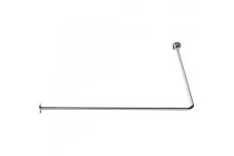 Tubo reggitenda ad angolo 90°, 1000 x 1000 mm, Ottone Nichelato cromato, Ø 16 mm